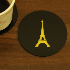 Coaster | Black & Yellow | Eiffel Tower 1