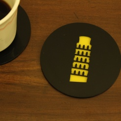 Coaster | Black & Yellow | Leaning Tower Of Pisa 1