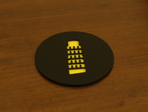 Coaster | Black & Yellow | Leaning Tower Of Pisa 2
