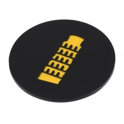 Coaster | Black & Yellow | Leaning Tower Of Pisa 3