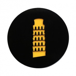 Coaster | Black & Yellow | Leaning Tower Of Pisa 4