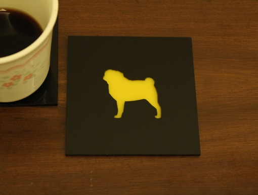 Coaster | Black & Yellow | Pug 1