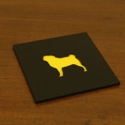 Coaster | Black & Yellow | Pug 2