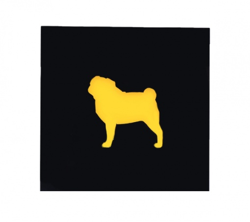 Coaster | Black & Yellow | Pug 3