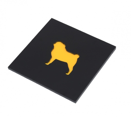 Coaster | Black & Yellow | Pug 4