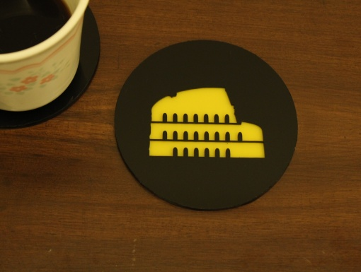 Coaster | Black & Yellow | Rome 1