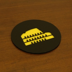 Coaster | Black & Yellow | Rome 2