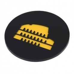 Coaster | Black & Yellow | Rome 3