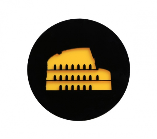 Coaster | Black & Yellow | Rome 4