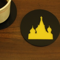 Coaster | Black & Yellow | Russian Cathedral 1