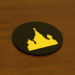 Coaster | Black & Yellow | Russian Cathedral 2