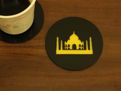 Coaster | Black & Yellow | Taj 1