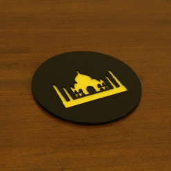 Coaster | Black & Yellow | Taj 2