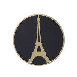 Coaster Black _ Gold Eiffel Tower-2