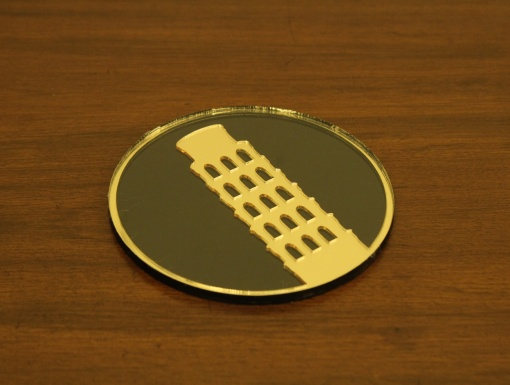 Coaster Black _ Gold Leaning Tower Of Pisa1