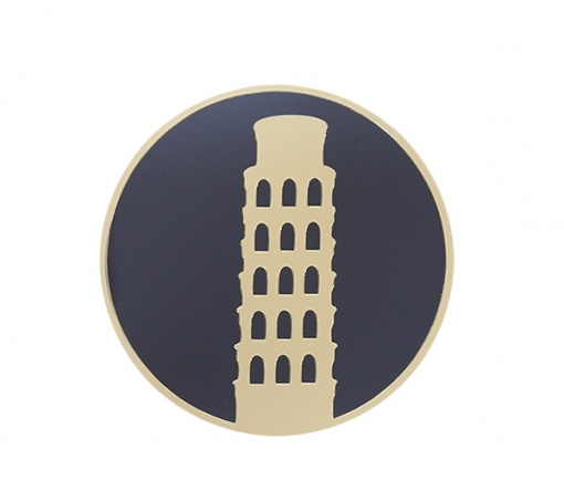 Coaster Black _ Gold Leaning Tower Of Pisa2