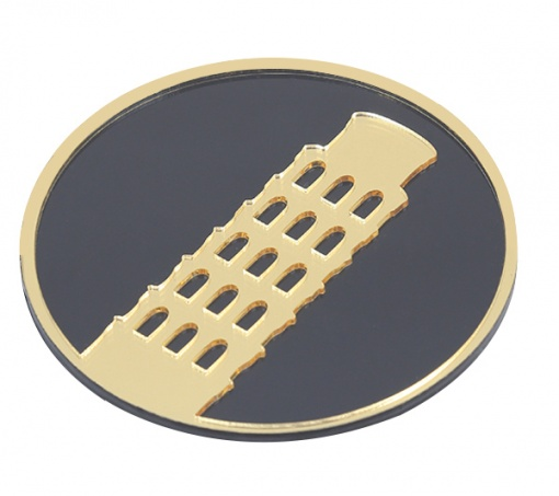 Coaster Black _ Gold Leaning Tower Of Pisa3