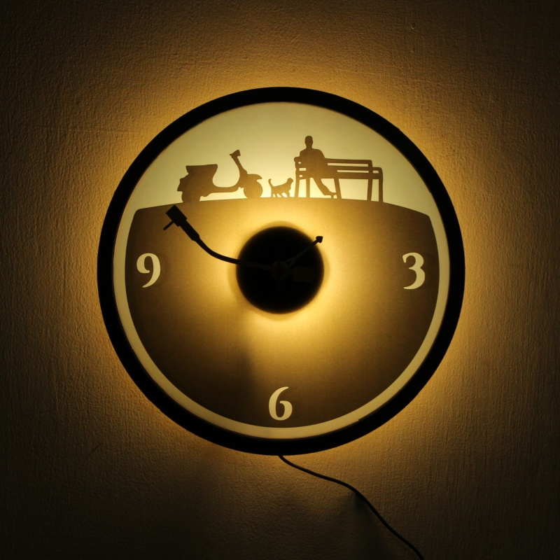2 Clock With Light For Table n Wall India by fufuh