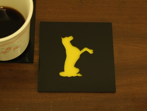 Coaster | Black & Yellow | Adorable Dog 1
