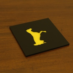 Coaster | Black & Yellow | Adorable Dog 3
