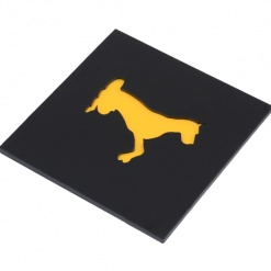 Coaster | Black & Yellow | Adorable Dog 4