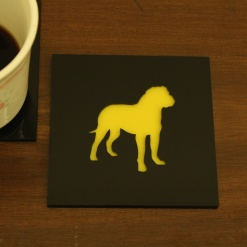 Coaster | Black & Yellow | Great Dane Dog 1