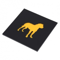 Coaster | Black & Yellow | Great Dane Dog 4