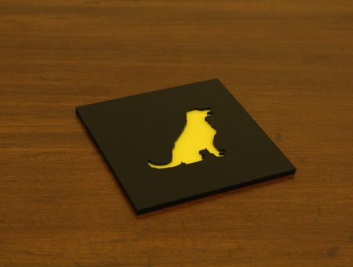 Coaster Black _ Yellow Golden Retriever Dog 2