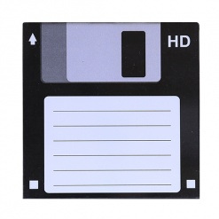Coaster | Re-Writable | Black Floppy Disc-3