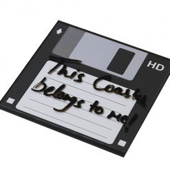 Coaster | Re-Writable | Black Floppy Disc-5