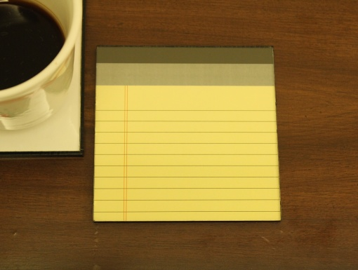 Coaster | Re-Writable | Yellow Notepad 1