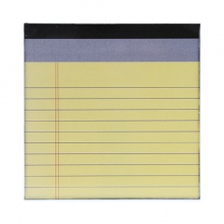 Coaster | Re-Writable | Yellow Notepad 4