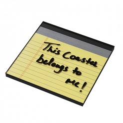 Coaster | Re-Writable | Yellow Notepad 6