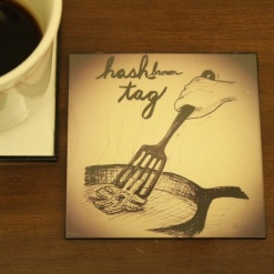 Coaster Re-writable Hash Brown Tag1