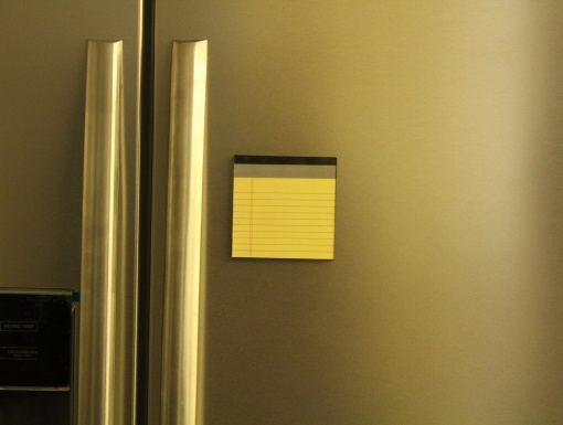 Fridge Magnet Re-Writable | Yellow Pad 1