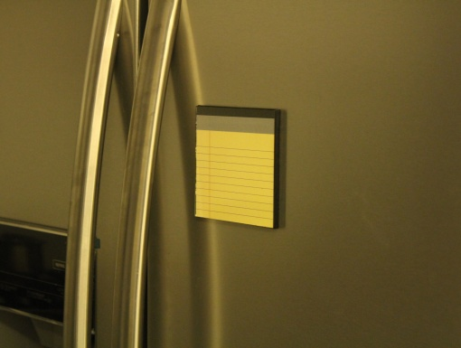 Fridge Magnet Re-Writable | Yellow Pad 2