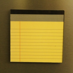 Fridge Magnet Re-Writable | Yellow Pad 3