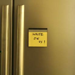Fridge Magnet Re-Writable | Yellow Pad 4