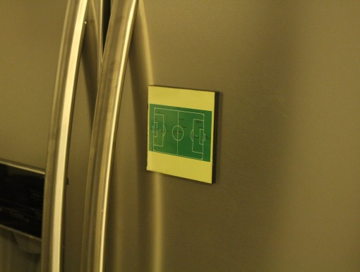 Fridge Magnet Re-writable Football Ground 2
