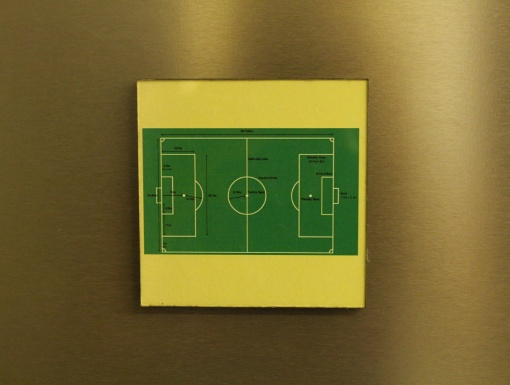 Fridge Magnet Re-writable Football Ground 3