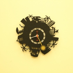 I Love Beach City Wall Clock2