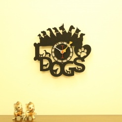 I Love Dogs 2 Wall Clock (1)