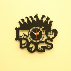 I Love Dogs 2 Wall Clock (2)