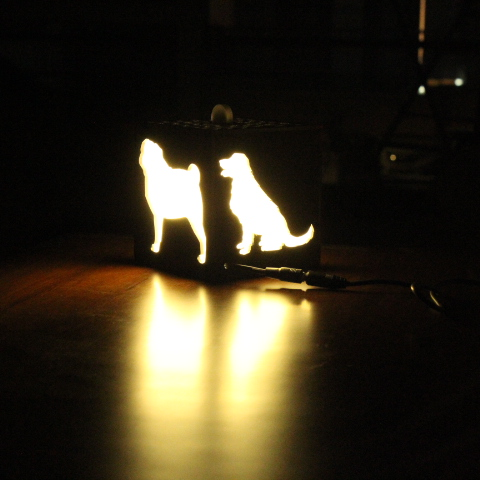 I Love Dogs Lamp With Clock | Unconditional Love 2