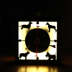 I Love Dogs Lamp With Clock | Unconditional Love 3