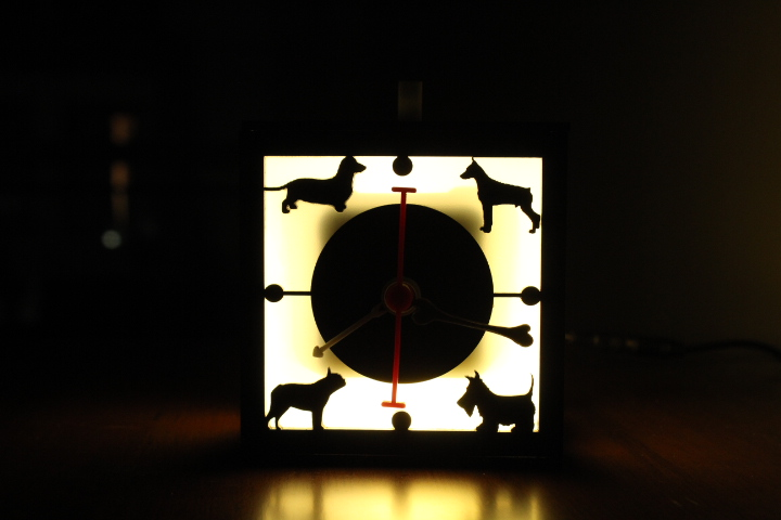 I love dogs lamp with clock unconditional love 3