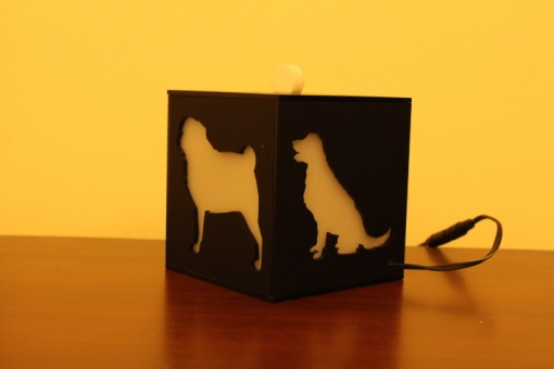I Love Dogs Lamp With Clock | Unconditional Love 8