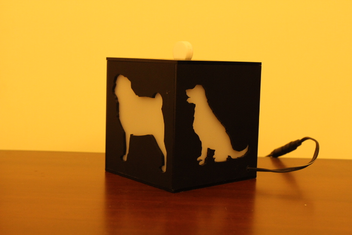 I love dogs lamp with clock unconditional love 8