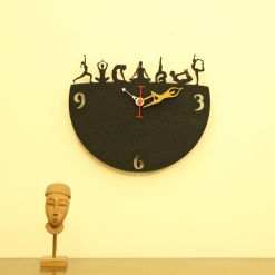I Love Yoga Wall Clock1