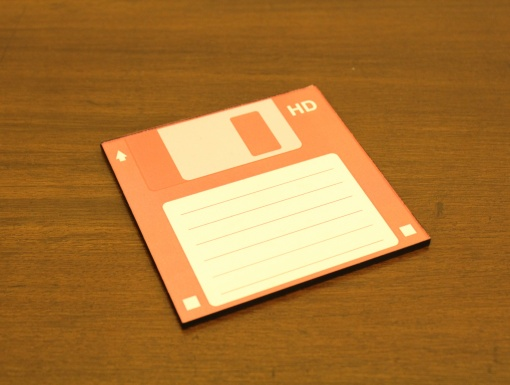 Coaster | Re-Writable | Red Floppy Disc